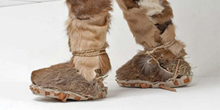 Boots made out of fur