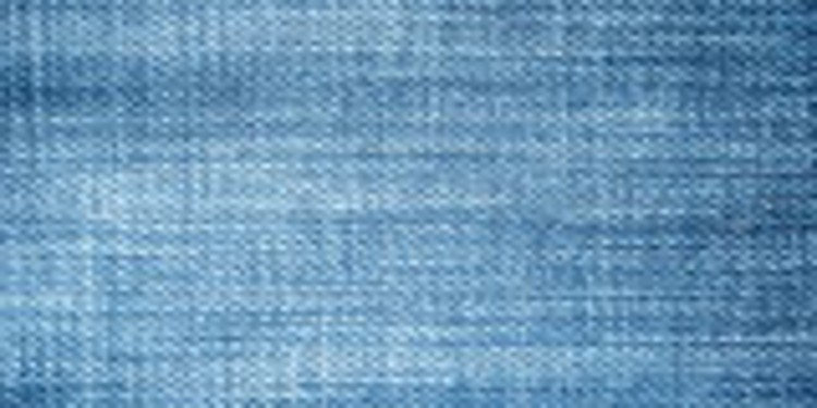 Close up of a blue denim fabric