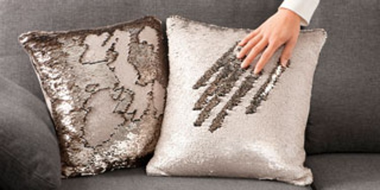 Cushions with reversible sequins