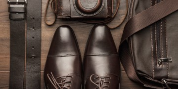 Product examples of leather: shoes, belts, bags