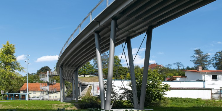 Textile concrete bridge in Albstadt-Lautlingen